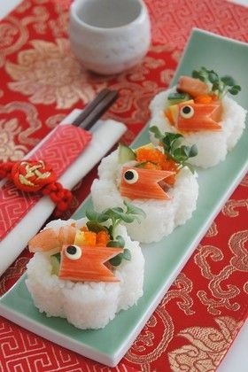 Chirashirigori sushi こいのぼりのちらし寿司