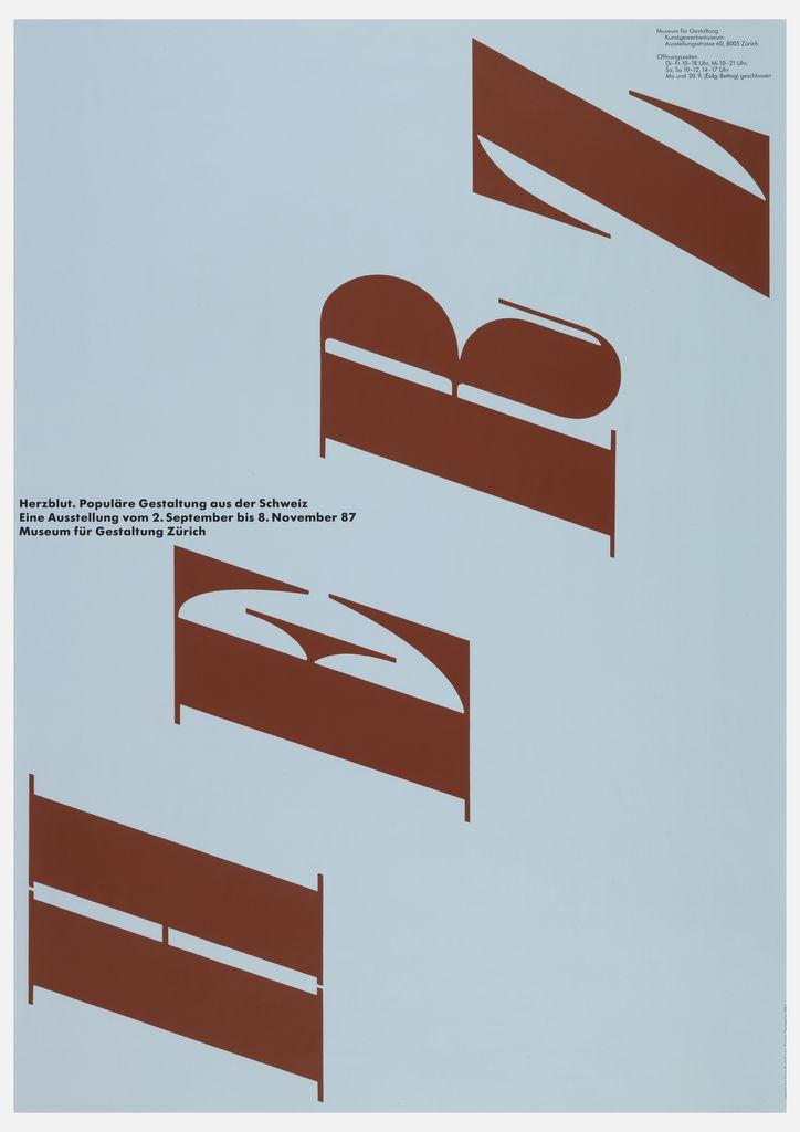 Poster, Herz, ca. 1987