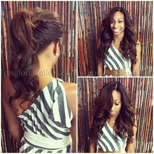 Awe Inspiring 1000 Images About Weave Sew Ins Hairstyles On Pinterest Human Short Hairstyles For Black Women Fulllsitofus
