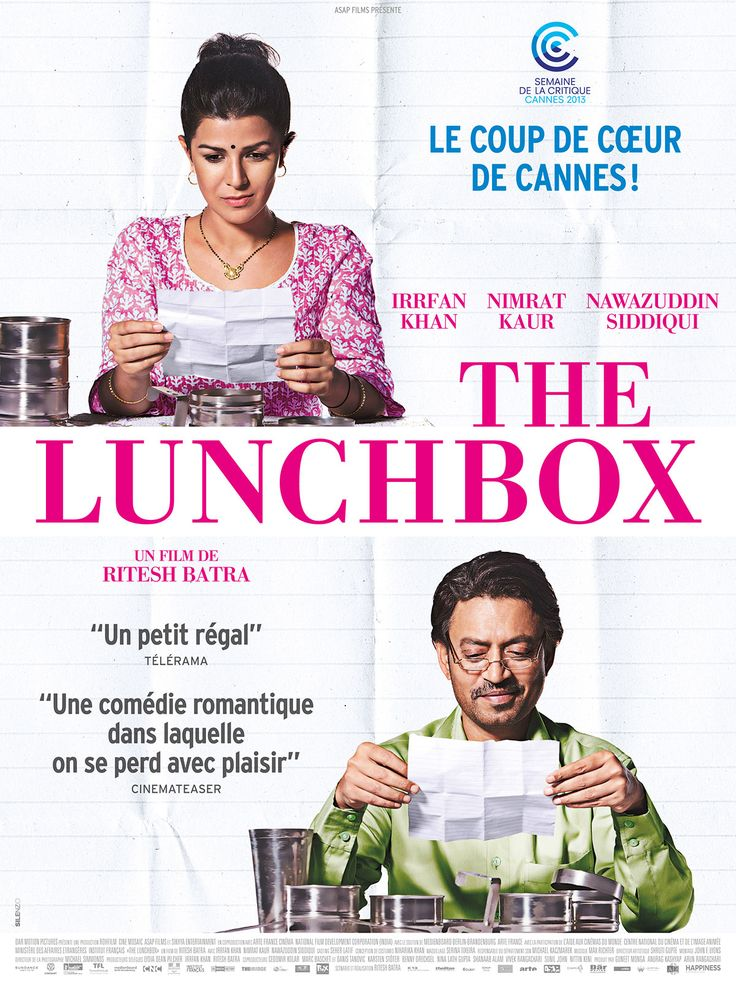 The Lunchbox est un film de Ritesh Batra avec Irrfan Khan, Nimrat Kaur. Synopsis : Ila, une jeune femme délaissée par son mari, se met en quatre pour tenter de le reconquérir en lui préparant un savour