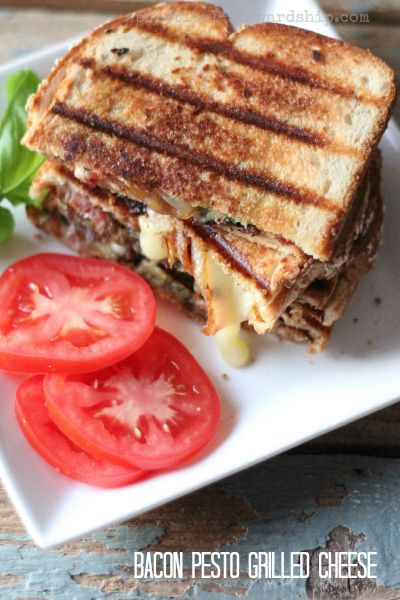 Bacon with Pesto and Grilled Cheese. #recipes