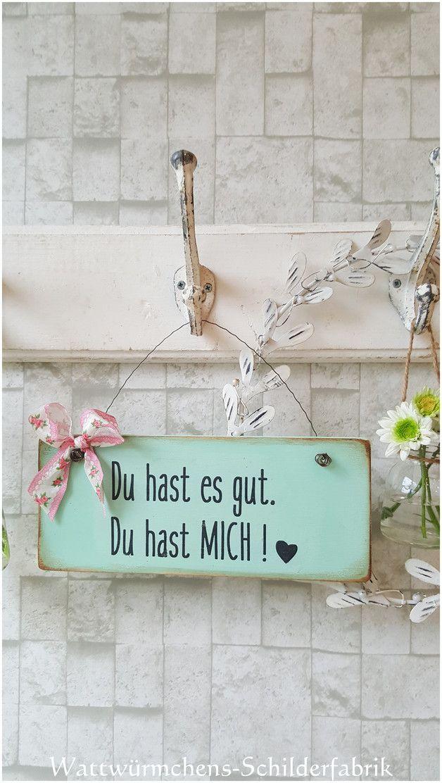 Türschild im Shabby Chic aus Holz, witzige Wohndeko / funny saying on a wooden … – DaWanda Deutschland