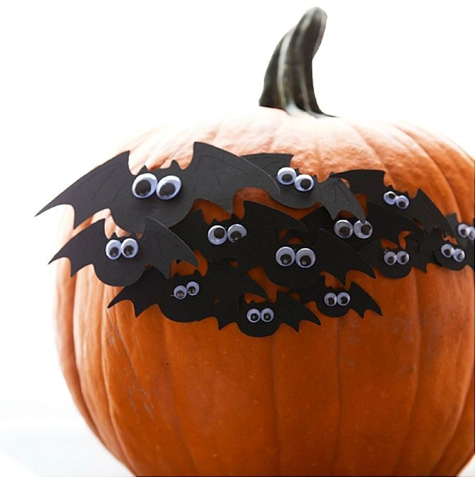 DIY Bat Pumpkin for Halloween