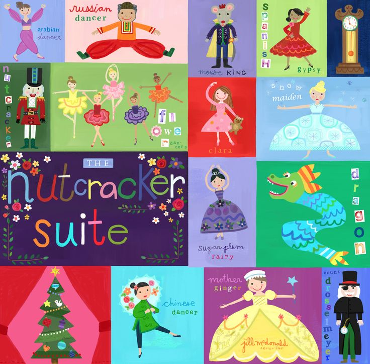 Nutcracker Art by Jill McDonald Design