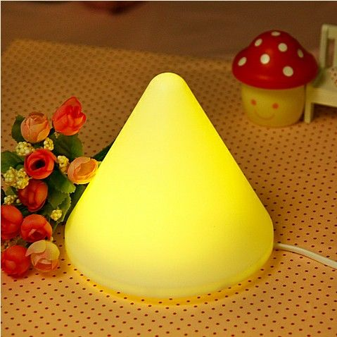Fashion Cute LED Pyramid Night Light Lamp