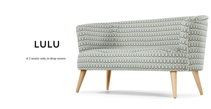 Lulu 2 Seater Sofa, Drop Weave | made.com