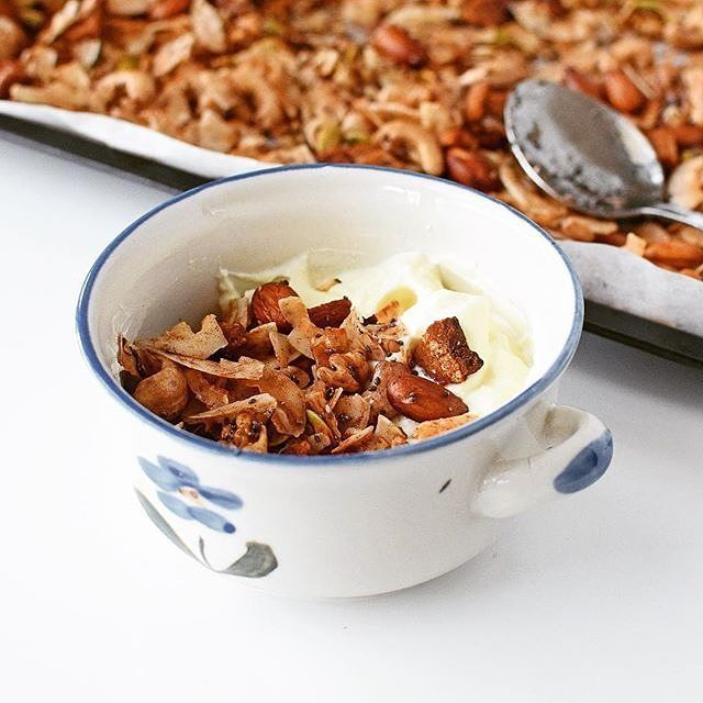 You gotta love when your Bacon Granola makes for a tasty breakfast AND an amazing soup topper. Winning! This dish was made by erin_dreamingofalmonds using Sarah Wilson's 'I Quit Sugar: #Simplicious' recipe. You could also try our Chocolate Coco-Nutty Granola.