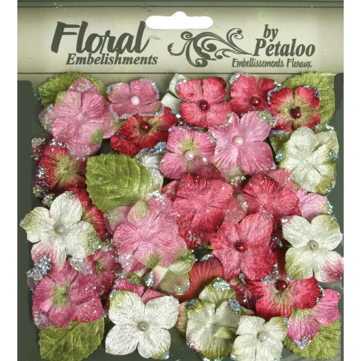 36 x Chantilly Rose Velvet Flowers Leaves mixed Petaloo Hydrangeas
