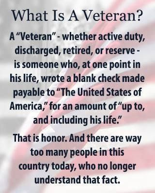 The Veteran.. Please pass along!
