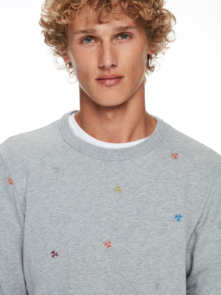 Sweat-shirt avec mini broderies   Sweat-shirts   Habillement Homme Scotch & Soda