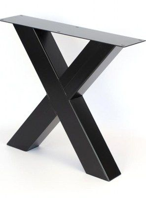 Gambe in ferro X colore nero per tavolo da pranzo fino a 250 cm ...