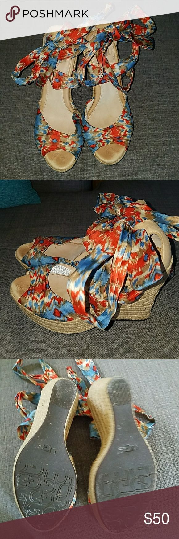 Ugg Wedge Sandals Ugg Wedge sandals . They are in very good condition. Size 5 1/2 UGG Shoes Wedges
