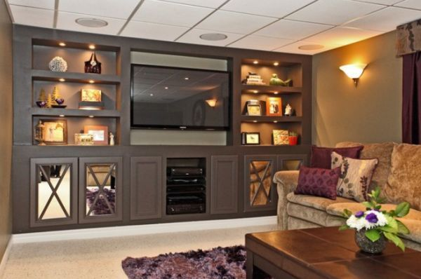 built ins with lighting