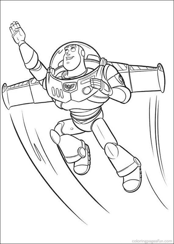 toy story coloring pages - Buzz Lightyear Colouring Pages