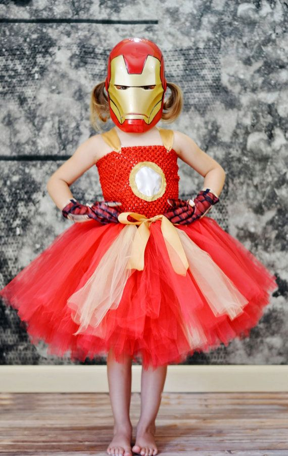 Girl Ironman Costume....Ironman Tutu Dress.....Super Hero Costume.....Super Hero Party