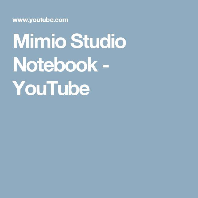 Mimio Studio Notebook - YouTube