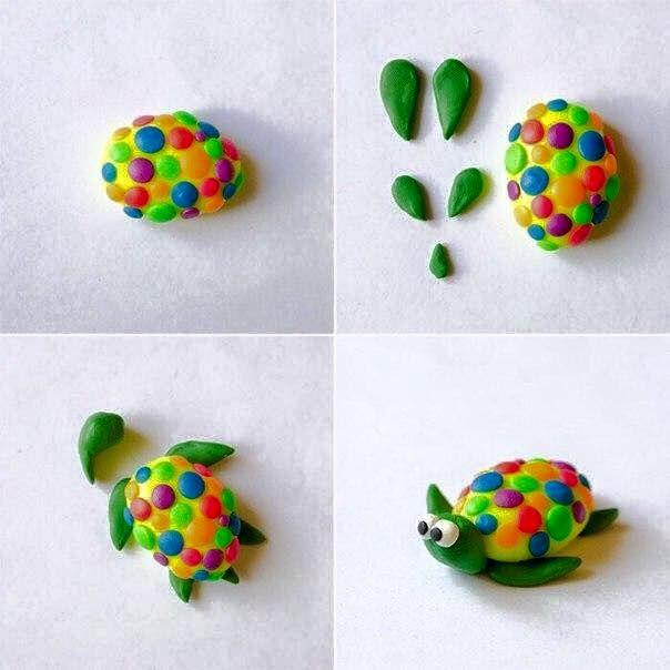 Schöne Tiere aus Knete mit Kinder basteln-dekoking-com-1