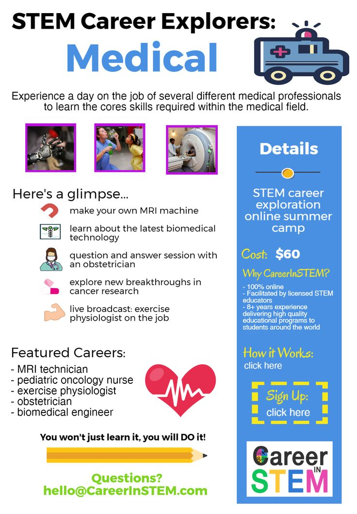 38 best afterschoolhomeschoolsummer stem ideas images on pinterest medical careers online summer stem camp careers in health stem career exploration fandeluxe Choice Image