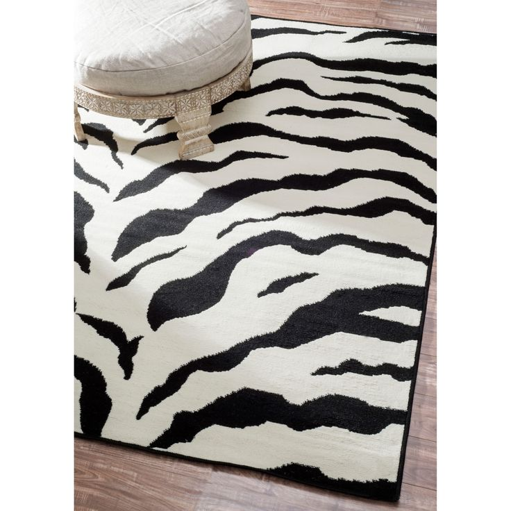Jute Rugs Zebra Animal Skin Print Modern Carpet Black Area Rug Feet Inches by Feet Inches ue ue ue Remarkable discounts available Area Rugs Runners Pads