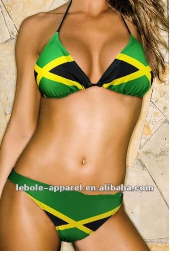 Jamaican Color Swimsuits | Jamaican Colored Bikini