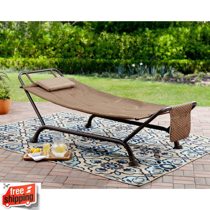Details About Hammock With Stand Outdoor Patio Swing Furniture Relax Steel  Frame Up To 500 Lbs