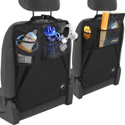 """OxGord Kick Mats Back Seat Protector w/Storage Organizer Pocket- 2 Pack """" 2016 Model Newly Designed"""" - Universal Fit for Car, Truck, SUV, or Van - Rear Auto Bucket Seat Upholstery Protective Cover, 2016 Amazon Top Rated Car Seats  #Baby"""