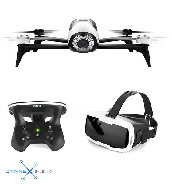 Parrot BeBop 2 Drone with FPV Bundle (White) Product Highlights: - CockpitGlasses for FPV with Smartphone - SkyController 2 Joystick Controller - Capture 1080p Video / 4096 x 3072 Photos - 3-Axis Elec