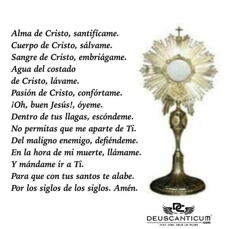 Alma de Cristo,santificame. . . . .