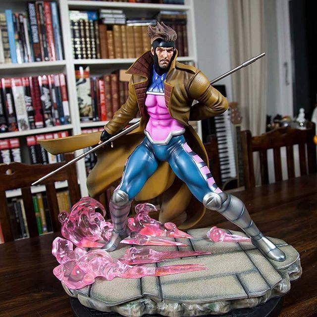 Gambit joins my statue collection. Custom piece. #statue #statuecollector #statueforum #sideshowcollectibles #sideshowfreaks #marvel #marvelcomics #marveluniverse #comic #comicbook #comics #xmen #gambit #figure #toycollector #toy #toycrewbuddies #toyphotography #nerd #nerdgasm #geek #hobby #capcom