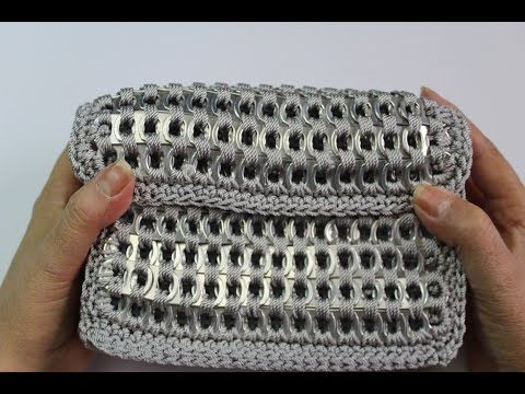 How to crochet soda tab clutch purse (video 2) Subtitulos en espanol, My Crafts and DIY Projects