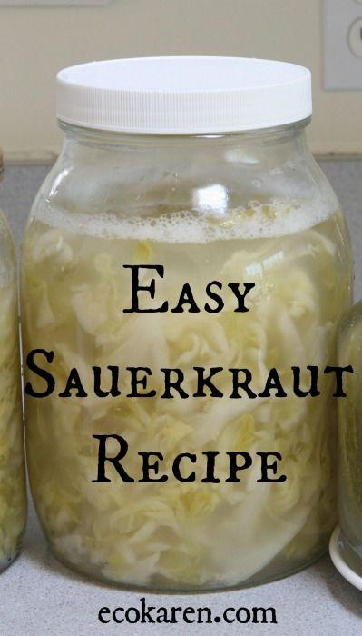 Easy Sauerkraut Recipe ecokaren