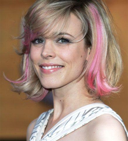 Pink hair streaks