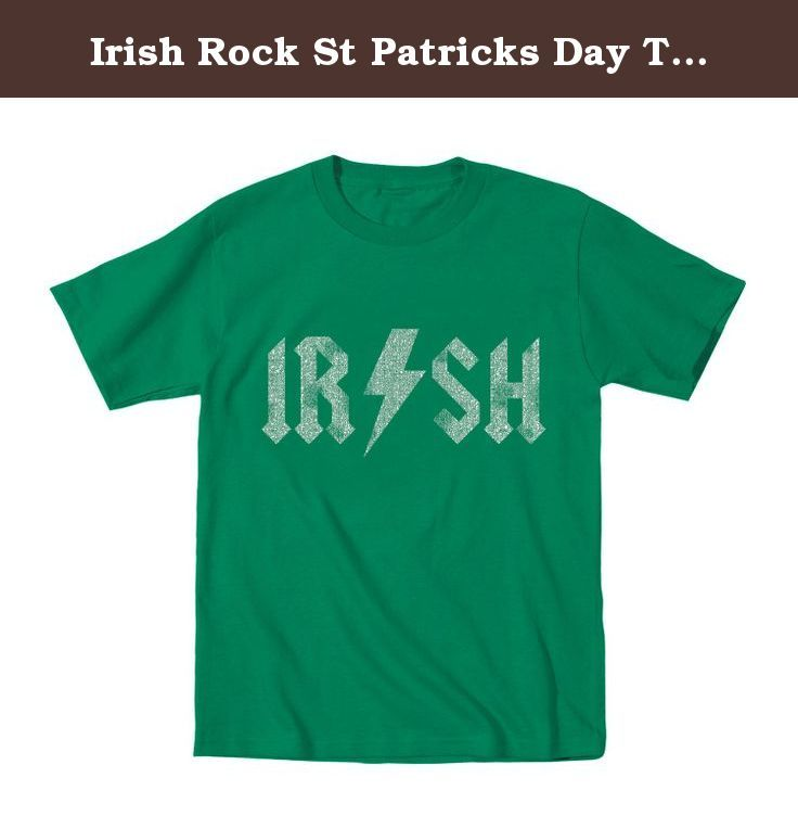 Irish Rock St Patricks Day Toddler Shirt 4T Green. This garment has been preshrunk to minimize shrinkage.