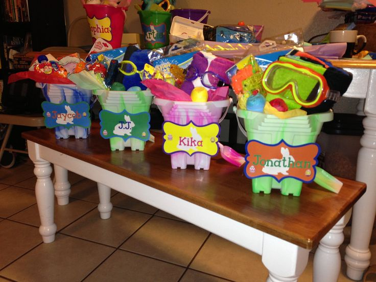 Beach/pool themed Easter baskets!!