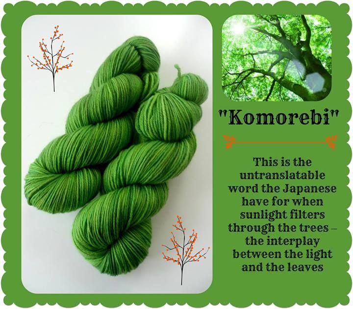 Komorebi - custom colorway for Misty | Red Riding Hood Yarns