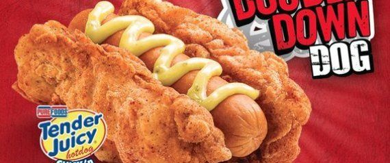 Double Down Hot Dogs Exist. Yes, KFC Has Actually Gone There.  #gross