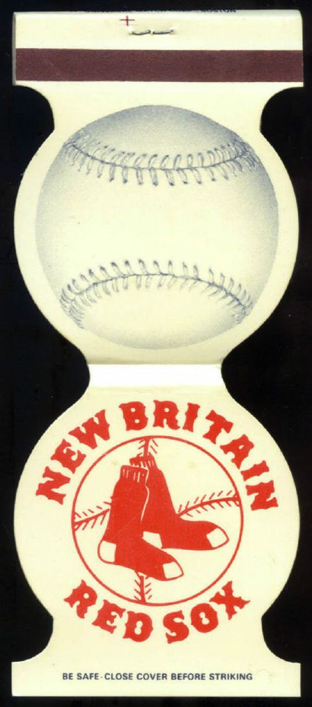 1983 NEW BRITAIN RED SOX UNUSED UNSTRUCK MATCHBOOK BASEBALL SCHEDULE FREE SHIP
