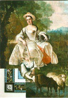 Herderinetje, wandschildering en mogelijk portret vrouw des huizes, Laurentia van Haaften. Kasteel Groeneveld (Heukelum)