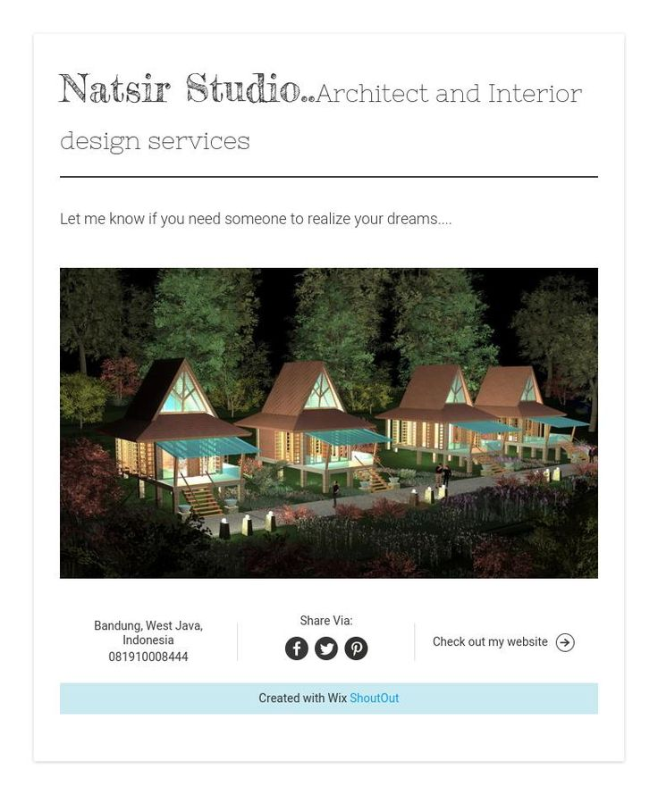 Natsir Studio..Architect and Interior design services