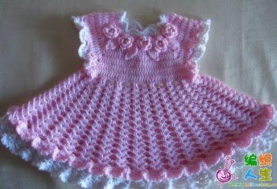 Noecrocheecia: Vestidos Infantil de Crochê!