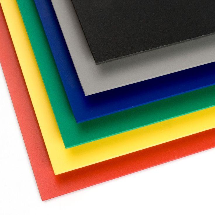 PVC ESPUMADO COLORES - El PVC espumado de colores es muy apreciado en rotulación, maquetismo y cartelería debido a su ligereza, resistencia y facilidad de manipulación.