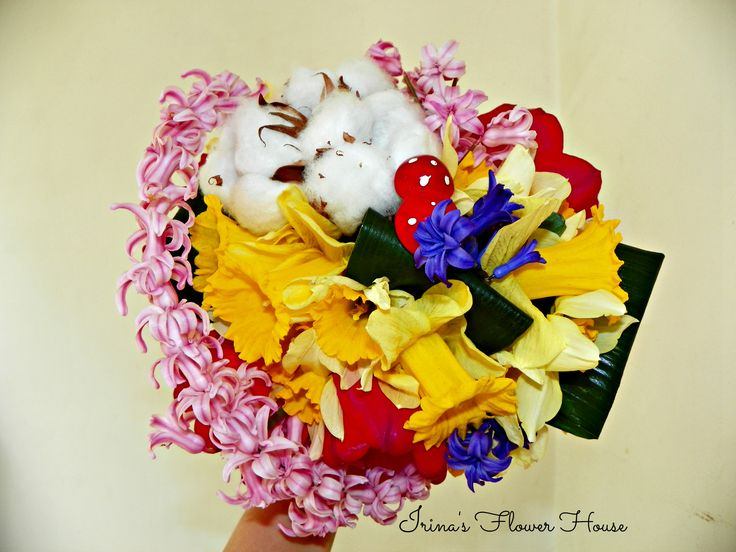 Spring flowers bouquet- made by Irina's Flower House