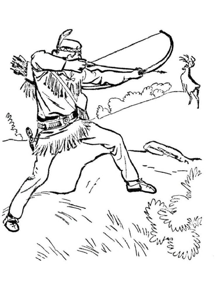 Free Hunting Coloring Page Deer coloring pages