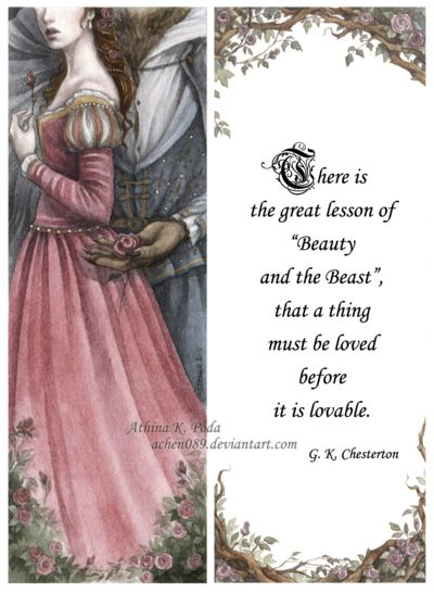 Beauty and the Beast Bookmark by Achen089.deviantart.com on @deviantART