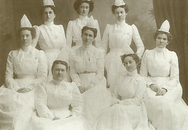 The Class of 1901 from St. Mark's School of Nursing, which was established on March 24, 1894. It was the first nursing school in the Intermountain region. (Photo: courtesy St. Mark's Hospital)