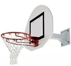 But mini basket fixable sur mur-Hauteur fixe 2m60 ou 3m05 - Déport 0m60-Panneau polyester 1/2 lune