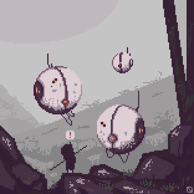 Curious orbs #pixelart