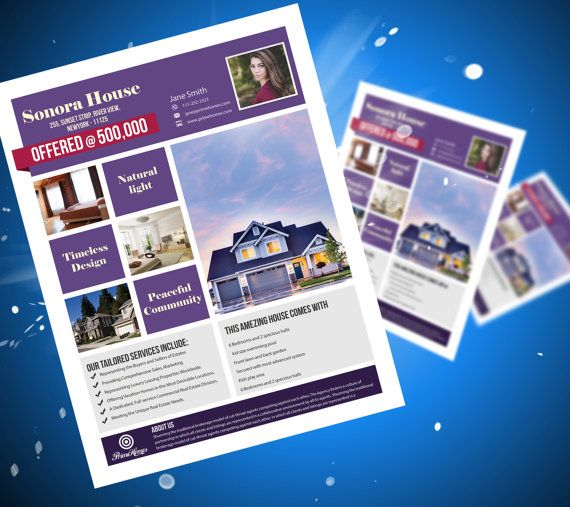 49 best Real Estate advertising Template images on Pinterest - free microsoft word flyer templates