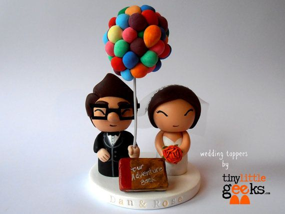 Wedding Cake Topper  UP Cake Topper  Carl