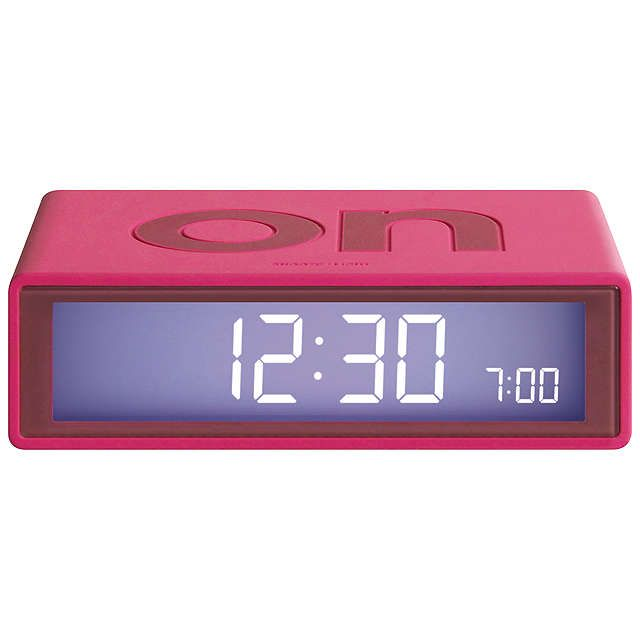 BuyLexon Flip Alarm Clock, Pink Online at johnlewis.com